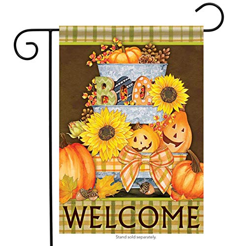 Flag - Halloween Buckets Decorative Garden Flag Banner for Party Outdoor Home Decor(Size: 28inch W X 40inch H) ()