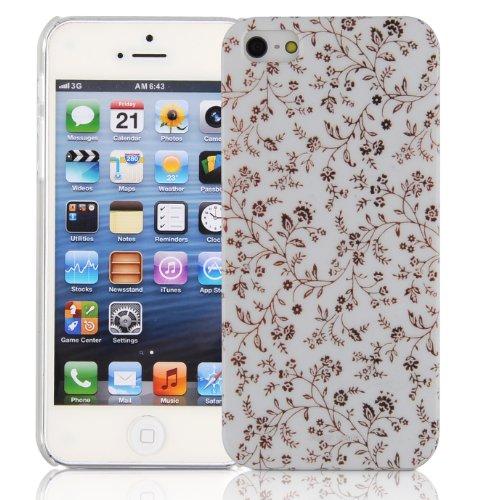JAMMYLIZARD | Coque motif Hivernal pour iPhone 5 5s, Renne Fleurs - FLEURS DE CUIVRE