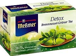 Messmer Detox, Brennessel-Grüner Tee 20 Beutel, 10er Pack (10 x 40 g)