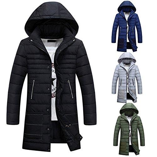 Mit Kapuze Winter-Daunenjacke für Herren Cardigan Herren Winter Mäntel Oberbekleidung