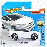 Hot Wheels 2017 Factory Fresh Tesla Model X White 97/365 (Short Card)