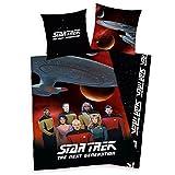 Star Trek - the next Generation - Jugendbettwäsche - Bettwäsche - witzige Bettwäsche - Gr. 80 x 80 cm, Bettbezug: 135 x 200 cm / Material: 100 % Baumwolle / waschbar bei 60°C, trocknergeeignet