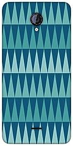 Snoogg Traingle Colourful Designer Protective Back Case Cover For Micromax Un...