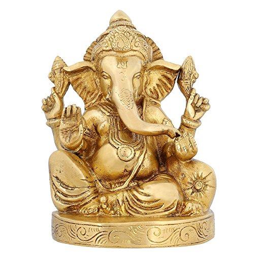 Ganesha Statua Ottone Induismo In India Articoli religiosi Hindu Temple Puja6.5 pollici - religiosi Articoli