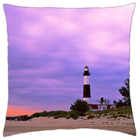 ludington state park big sable point lighthouse michigan - Throw Pillow Cover Case (16