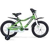 """Kawasaki KBX 16""""Bicicleta para niño, de 5,6,7 y8años con guardabarros tipo moto."""