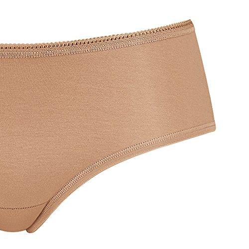 6er Pack Sloggi Damen Hipster - Serie 24/7 Cotton 2+1 - Farbe Weiß, Schwarz - Gr. 36 bis 46 - Damen Slip aus Baumwolle + Elasthan - UNWAGO Set Schwarz