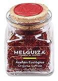 Azafrán Auténtico Español en Hebras Natural Envase Cristal Regalo de Cocina de Especias y Condimentos Gourmet (3 Gr)
