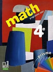 Math 4e : Programme 2007