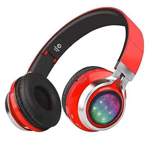riwbox wt-07höhenverstellbar Kabellose Bluetooth Stereo Kopfhörer zusammenklappbar Headsets mit