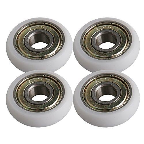 8x27.5x8mm Weiß Kunststoff Lager Stahl Kugellager Führungsrolle Roller Runde Radlast 83 KG 4er Pack
