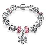 Presentski Bracelet Bracelet Charme avec Flocon de Neige pour Cadeau Fête des Mères...