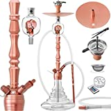 DILAW® VATOS Shisha Set Hookah 93cm Aluminium Alu ✔