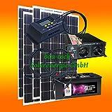 400 Watt Insel Solaranlage für Garten uvm. Komplett SET inklusive Montagematerial für Flachdach