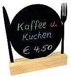 Kaltner Präsente Kreidetafel Tafel Gedeck abwaschbar mit Aufsteller aus Holz ideal als Getränkekarte Tageskarte oder auch Tischkarte (Abmessung 16 x 14 cm)