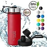 720°DGREE Borraccia Acqua Termica noLimit - 530ml, Rosso, Red | BottigliaaAcciaio Inox Isolamento Vuoto | + Gratis Coperchio di Sport
