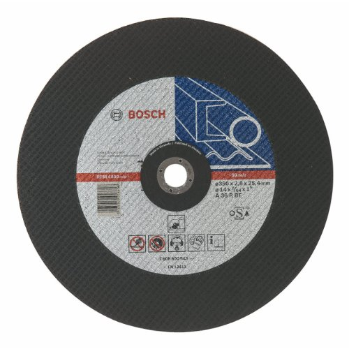 Bosch Professional Zubehör 2608600543 Trennscheibe gerade-Metall A 36 R BF, 350 mm, 25,4 mm, 2,8 mm