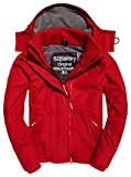 Superdry POP ZIP Hood Arctic Wndcheater, Giacca Sportiva Uomo, Rosso (Deep Red/Steel), Small (Taglia Produttore:S)