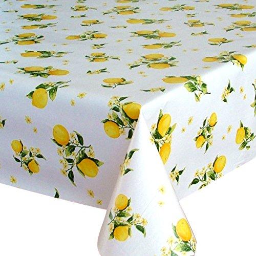 Tovaglia in tela cerata plastificata rettangolare 140 x 200cm Limone