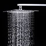 #9: Zeya Ultra Slim Square Stainless Steel Shower 8x8 Over Head Shower Without Shower Arm