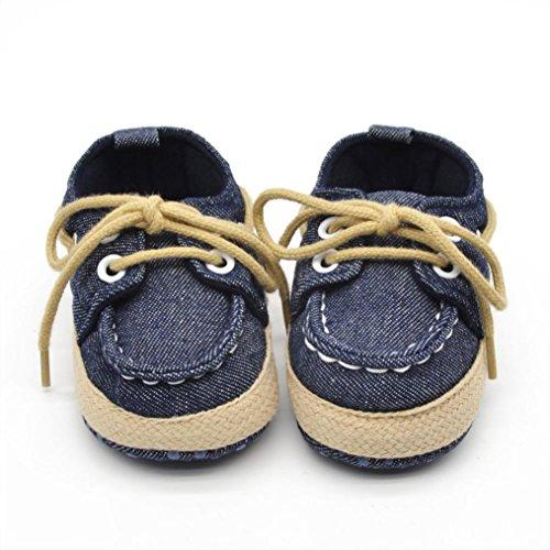 Luqiqi Baby Kleinkind Kind junge Mädchen weichen Sohle Sneaker Schuhe Dunkelblau