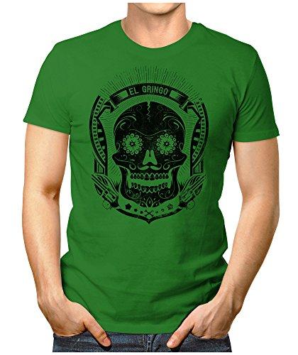 PRILANO Herren Fun T-Shirt - EL-GRINGO - Small bis 5XL - NEU Grün