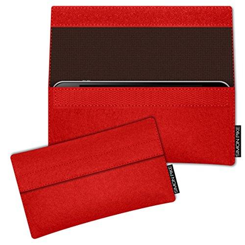 SIMON PIKE Xiaomi Mi Note Pro Filztasche Newyork 2 in rot Filz, maßgefertigt