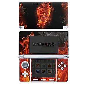 DeinDesign Skin kompatibel mit Nintendo 3 DS Folie Sticker Totenkopf Feuer Totenköpfe