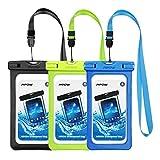 Mpow Wasserdichte Tasche, Handy Trockenbeutel Universal Smartphone Handytasche für iPhone 7/7 Plus, Galaxy / Google Pixel / LG / HTC (3-Stück)