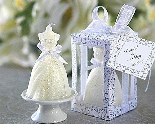 Lote de 16 Velas Vestido de Novia   Velas Recuerdos Invitados de Bodas Baratas   Detalles y Recuerdos para Bodas Invitados