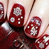 prettygood7 Nail Art Sticker Weihnachtsmann Rentier Schneeflocken Mix Schnee Sticker