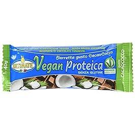 Barretta Vegan Proteica – Barretta Con Il 27% Di Proteine Isolate Di Soia – 100% Vegetale Ideale Per Vegani E…