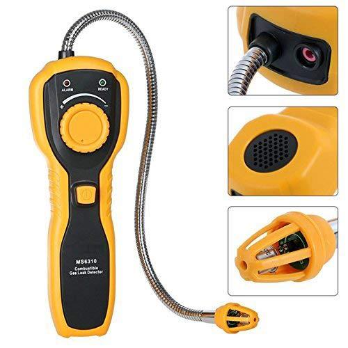 Detector De Fugas De Gas Combustible, Metano Propano Propano Detector De Fugas De Gas Natural Combustible, Sonda De Metano Hidrógeno Amoniaco Gas Alarma(Sin Bateria)