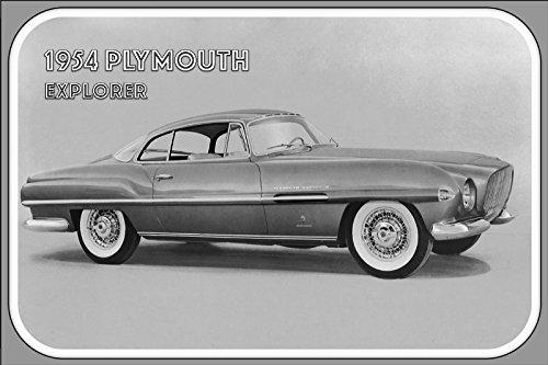 1954-plymouth-explorer-voiture-publicite-barschild-us-style-retro-noir-blanc-image