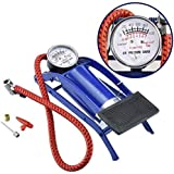 Brightlight Traders Single Barrel Steel Body Foot Pump for car | Air Pump for Motorcycle Car | High Pressure Foot Pump…