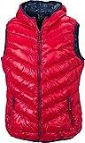 JN1061 Ladies Bodywarmer Daunenweste Weste Damenweste , Größe:XL, Farbe:Red-Navy