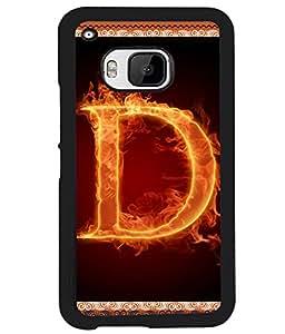 Fuson 2D Printed Alphabet D Designer back case cover for HTC One M9 - D4192