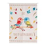 FTHIYK Vorhang Cartoon Birdie Mond Trennvorhang Badezimmer Schrank Baumwolle Ohne Teleskopstange,C-85CM-120CM