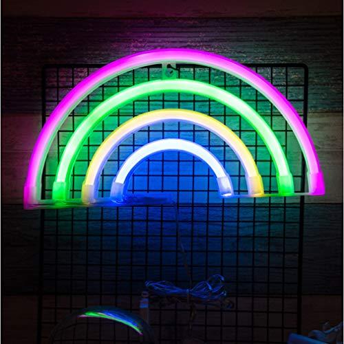 Hibote Señales de neón del Arco Iris, Luces de Noche de neón LED Decoración de la Pared Luz de decoración del hogar para Chistmas, Fiesta de cumpleaños, Habitación de los niños, Sala de Estar