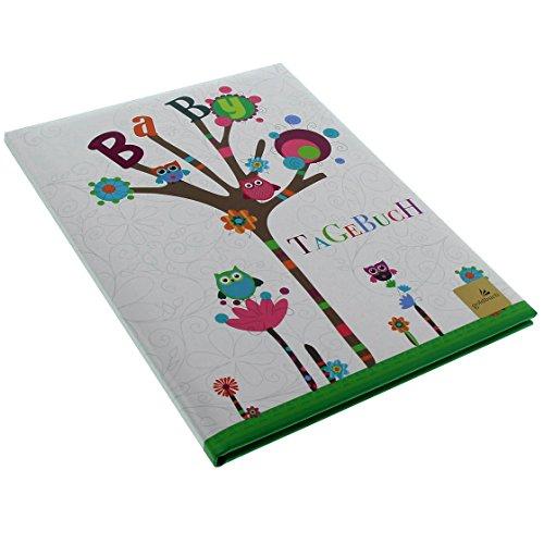 Goldbuch Babytagebuch Kleine Eule, 21x28cm, 44 illustrierte Seiten mit Pergamin, Kunstdruck mit UV-Lack, 11010