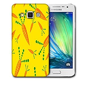 Snoogg Carrot Yellow Printed Protective Phone Back Case Cover For Samsung Galaxy A3