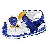 Babyschuhe Unisex-Baby Jungen Mädchen Geschlossene Sandalen Sommer PU Weiche Kleinkind Schuhe (Wird anrufen) mit Klettverschluss Freizeit Niedlich Anti-Rutsch Lauflernschuhe Sneakers für 0-18 Monate
