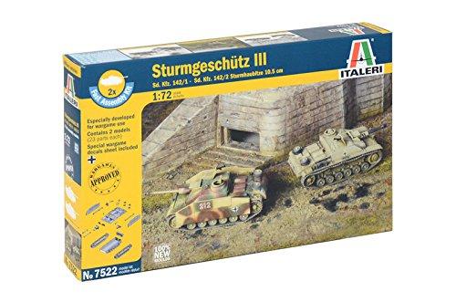Italeri 7522 - sd.kfz 142/1 sturmgesch.iii - fast assembly (2 pcs) model kit  scala 1:72