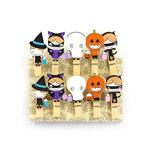 ine Mini Holz Wäscheklammern Holzklammern Deko Klammern mit Motiv - wählbar (Halloween 2) (Niedliche Halloween Dekoration Basteln)