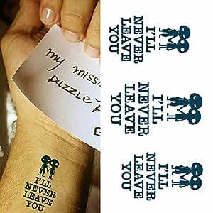 zokey design originale impermeabile stickers tatuaggio On temporaneo in inglese