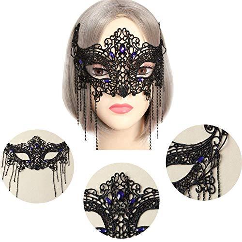 RISILAYS Halloween-Spitze-Maske, Half Face Masquerade, Cosplay Übertrieben Stil, Venezianischen Stil High-End-Haar-Accessoires ()