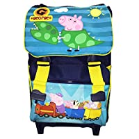 Official Accademia George Peppa Pig School Backpack Rucksack Expendable Trolley Suit Case RRP £51.99