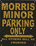 8X10in MORRIS MINOR PARKING SIGN RUSTIC STYLE 8x10in 20x25cm CAR SHED TIN GARAGE WORKSHOP WALL ART