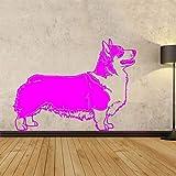 zqyjhkou Schöne Pembroke Welsh Dog Wandaufkleber Schlafzimmer Abnehmbare Vinyl Kunstwand Für Kinderzimmer Wandtattoos Dekoration 7 59x42 cm