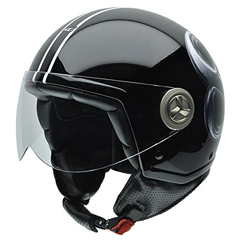 NZI Tonup Graphics Motorradhelm, Schwarze Billardkugel, XL